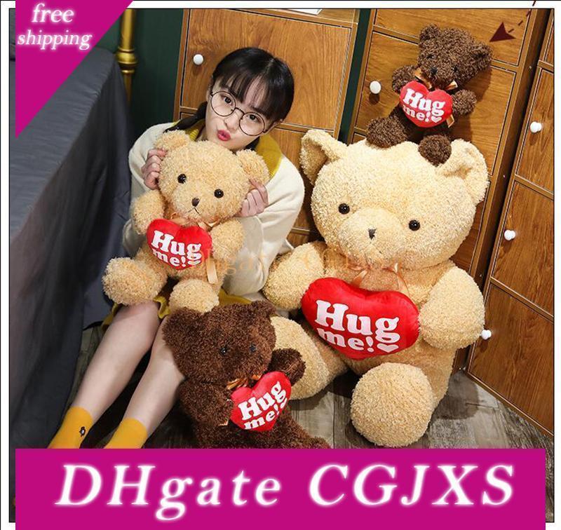 Kawaii Love Bear Plüschtier Umarmungs-Herz-Teddybär Stuffed weiches Tier-Kissen für Kinder Kinder Valentine S Day Geschenk
