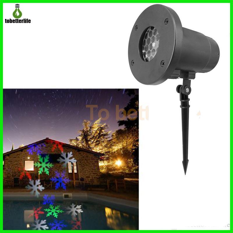 눈송이 프로젝터 램프 장식 레이저 빛 방수 100-240V 자동 이동 실내 LED 가로 프로젝터 라이트 화이트 RGB