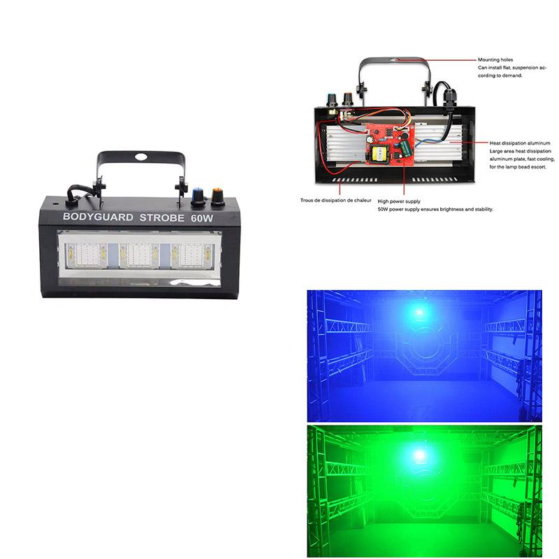 Projector de Natal LED Bodyguard Strobe Light Flash Light Estroboscópios Lâmpada Strobe Light partido Home Lamp Bar Stage Lighting