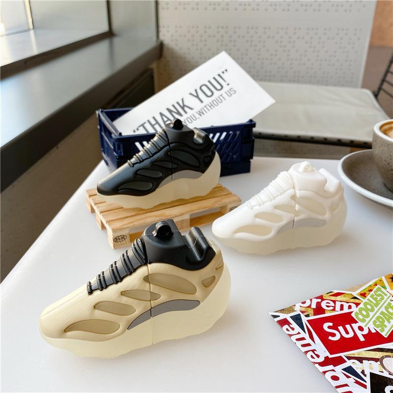 أحذية مضيئة الرياضة سيليكون شكل الأزياء الغطاء بلوتوث سماعة لاسلكية لأبل Airpods 1 2 برو شحن حالة