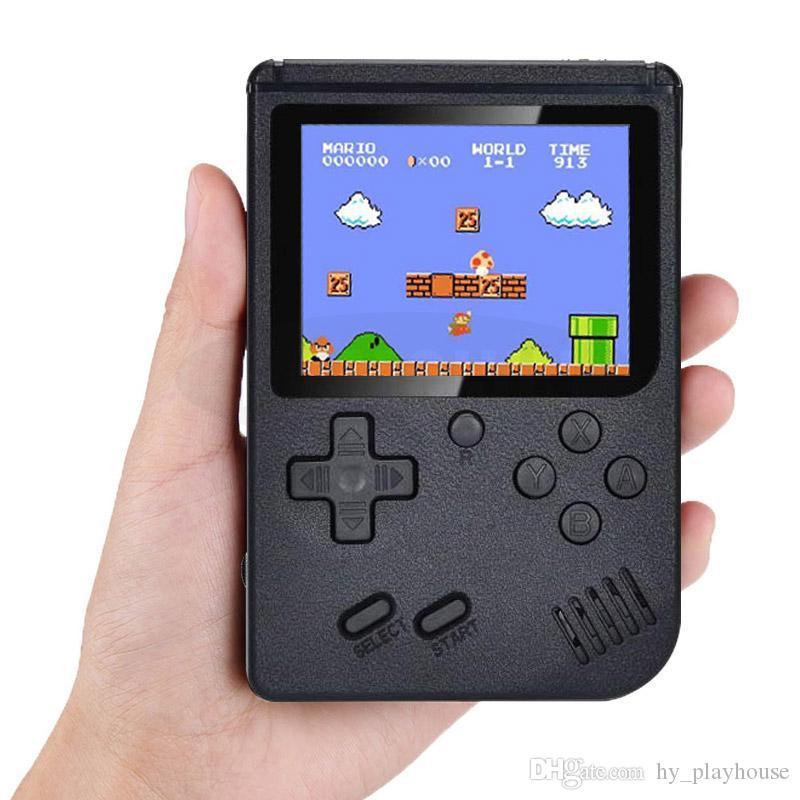 3 inç Mini El Oyun Konsolu Retro Taşınabilir Video Oyun Konsolu 400 Sup Oyunları 3.0 İnç oyuncular Game LED Beşik Tasarım İçin Çocuk Hediye