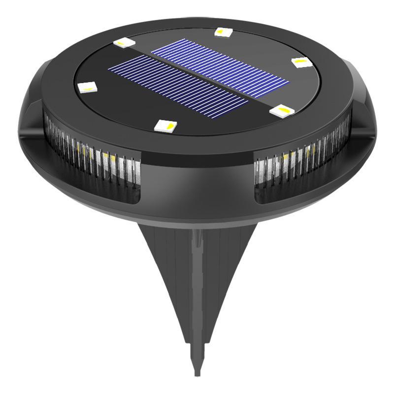 Solar Powered 6 LED Lighting Buried Ground Underground Light for Outdoor Path Garden Lawn Landscape Decoration