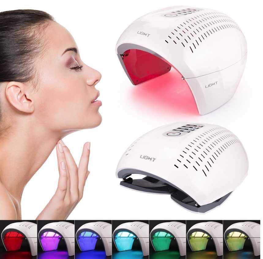 7 اللون PDT LED الفوتون العلاج بالضوء مصباح بقيادة قناع تجديد الجلد فوتون جهاز UK الاتحاد الاوروبي الاتحاد الافريقي الولايات المتحدة plgu حب الشباب مزيل المضادة للتجاعيد