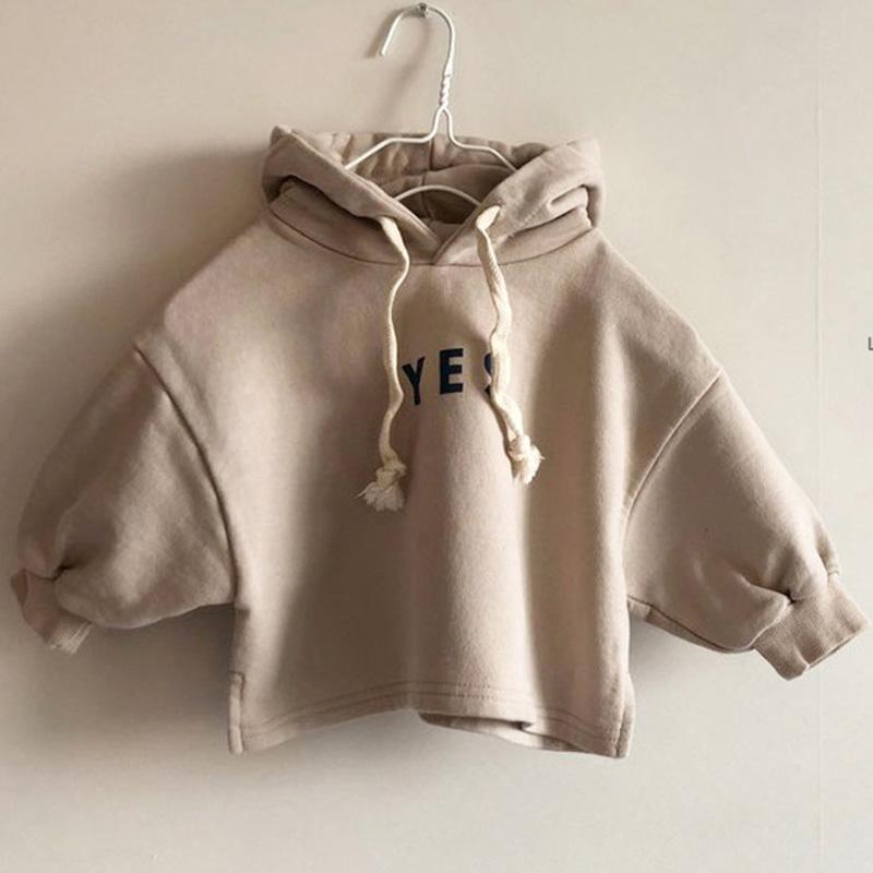 niños MILANCEL otoño sudaderas coreanos Los hoodies de los niños impresión de la letra de ropa con capucha chicas sudaderas LJ200811