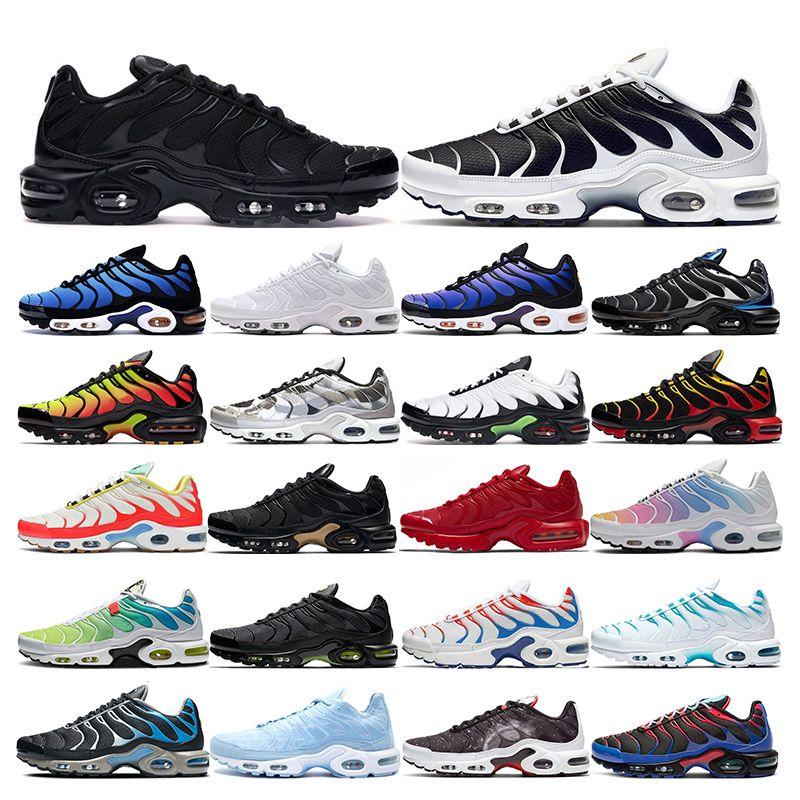 nike air max tn plus  corsa da uomo Bianco nero Arancione Volt Colore Flip Sneakers sportive HYPER CRIMSON sneaker taglia 40-45