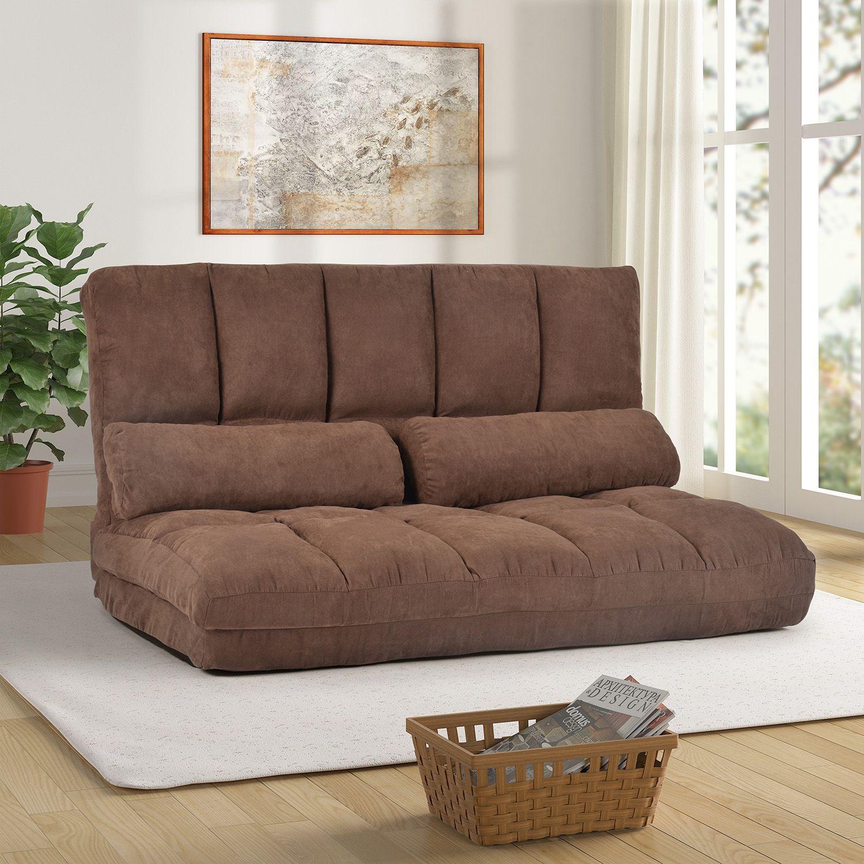 Acheter Double Chaise Longue Canapé Sol Canapé Et Canapé Avec Deux  Oreillers Brown PP10DAA De 10,10 € Du Beautydesign  DHgate.Com