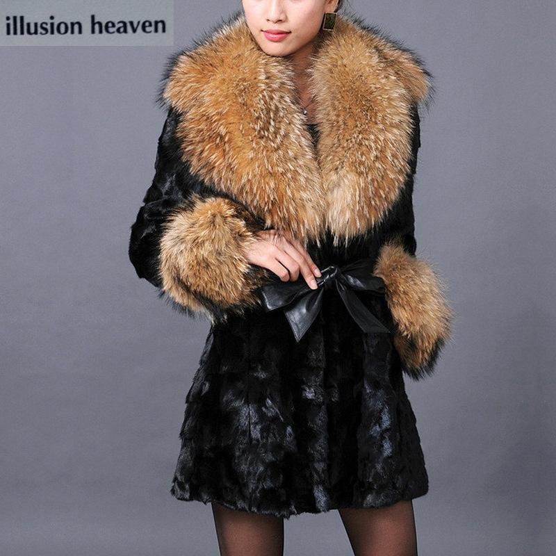 Coat Женского пальто зимы женщин шерсти Faux женщины Warm