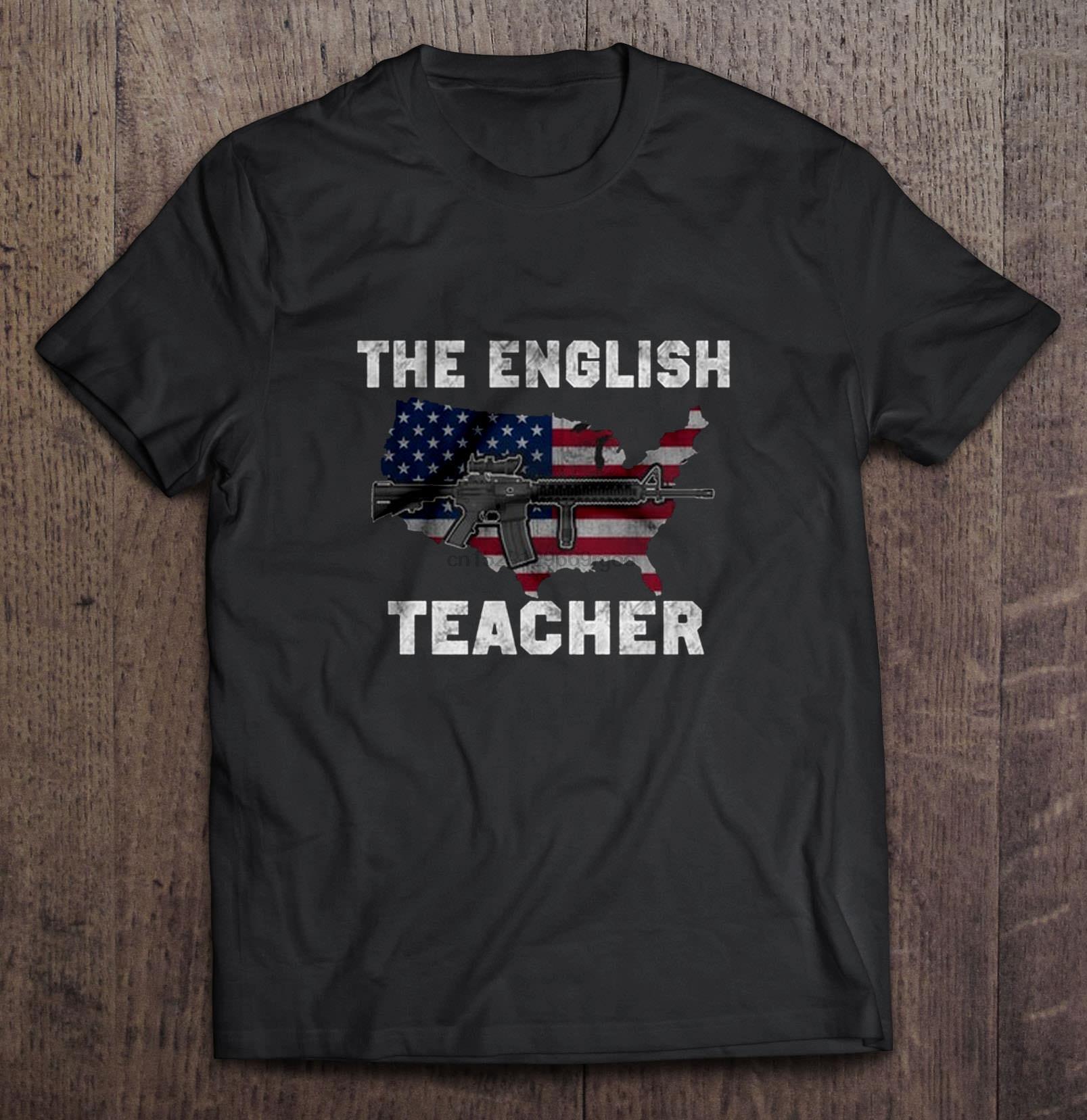 Homens Camiseta O T-shirt do professor Inglês Gun M416 Mulheres