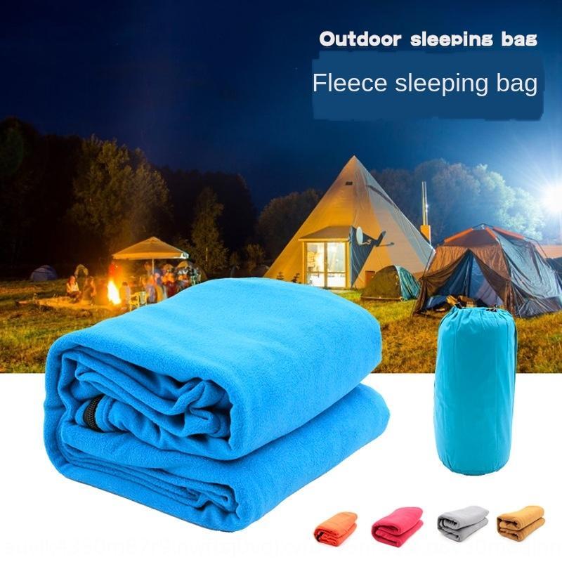 Outdoor camping fleece light Warm sleeping bag liner cover portable indoor outdoor sleeping bag four seasons warm polar fleece quilt 0K3QS 0