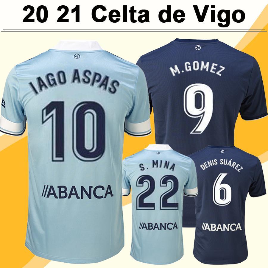 20 21 Celta de Vigo Mens Futebol New ISGO ASPAS SISTO Casa Fora camisas de futebol EMRE MOR Brais MENDEZ Camisetas masculinas Fardas futbol