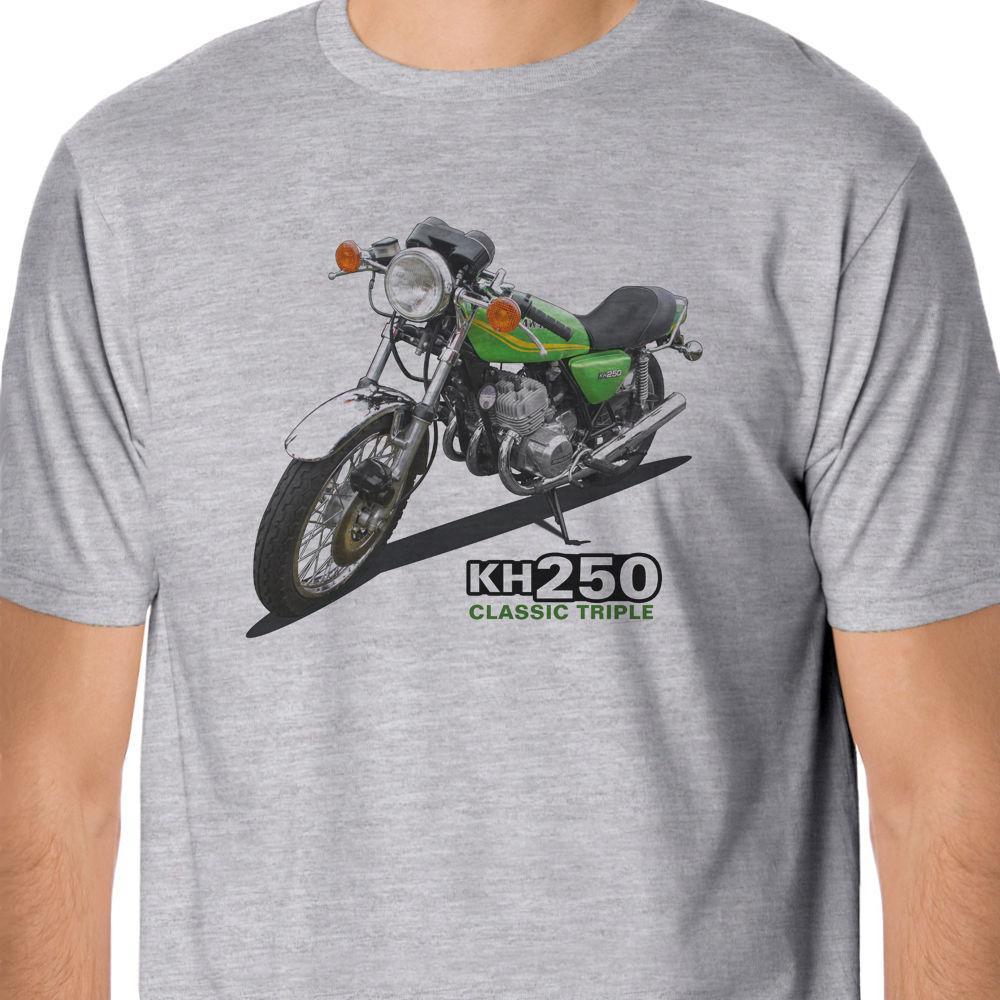 2019 Новый бренд хлопка вскользь Top Tee ретро велосипедов - Классический KH250 Тройной Вдохновленный Короткие рукава Новая мода футболки мужчин Одежда
