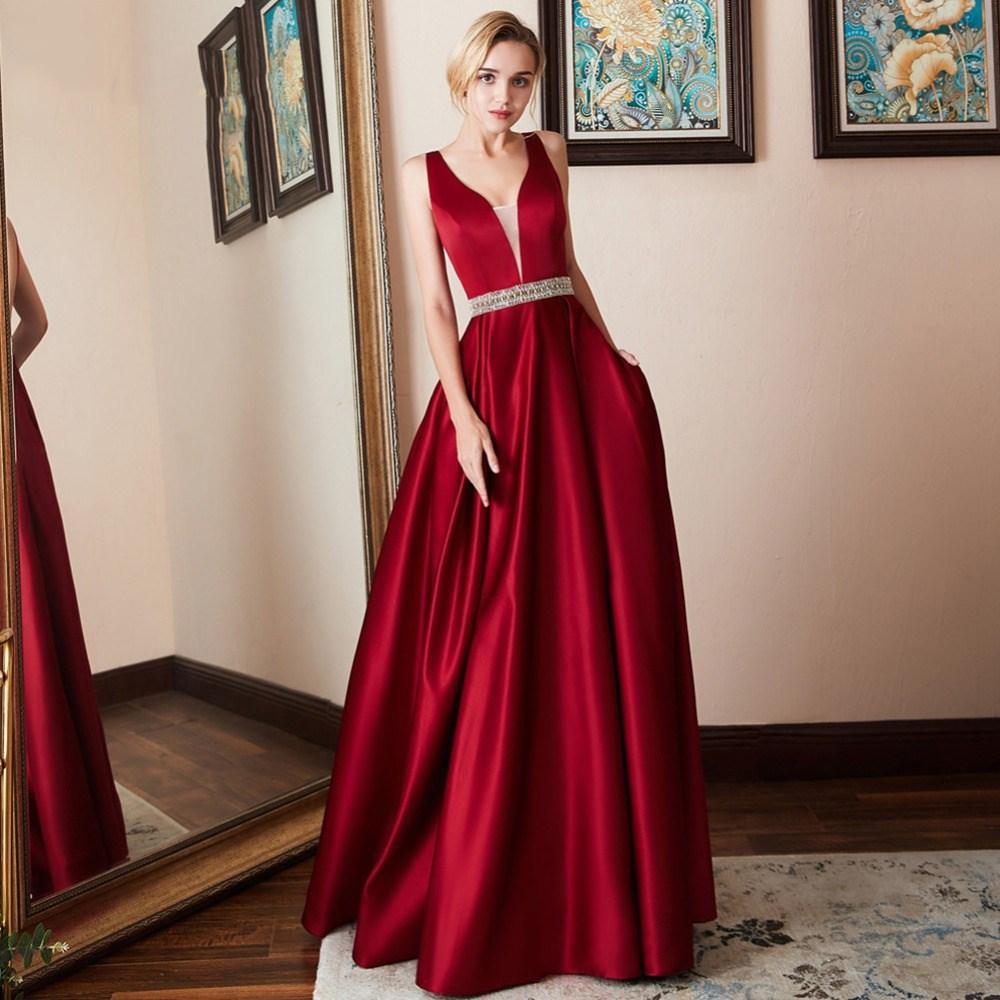 Элегантный Burgundy Coral Длинного Bridesmaids платья 2020 V шея Plus Размер A Party Line платье африканский Bridemaid платье