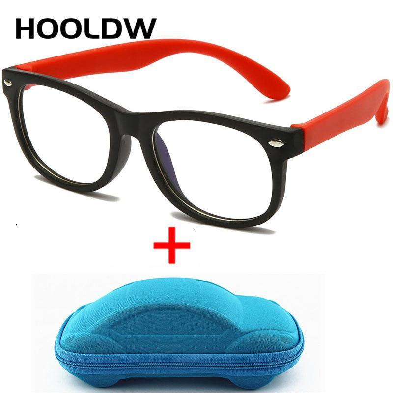 Yeni Anti mavi ışık HOOLDW Çocuk Gözlük Erkekler Kızlar Optik Çerçeve Bilgisayar Şeffaf Gözlük Çocuklar Silikon Yumuşak Gözlükler CH01