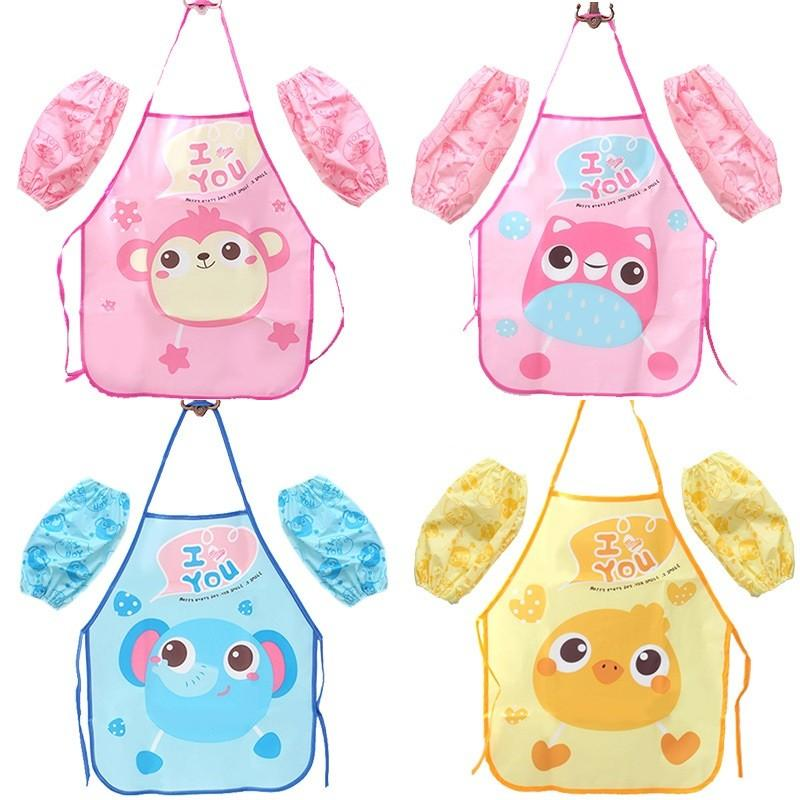Cartoon Owl Aprons Kids Kitchen Play Dustproof Aprons Pink Blue Girls Boys Apron Sleeve Kitchen Set Personalized Aprons Red Apron From Highqualit05 1 5 Dhgate Com