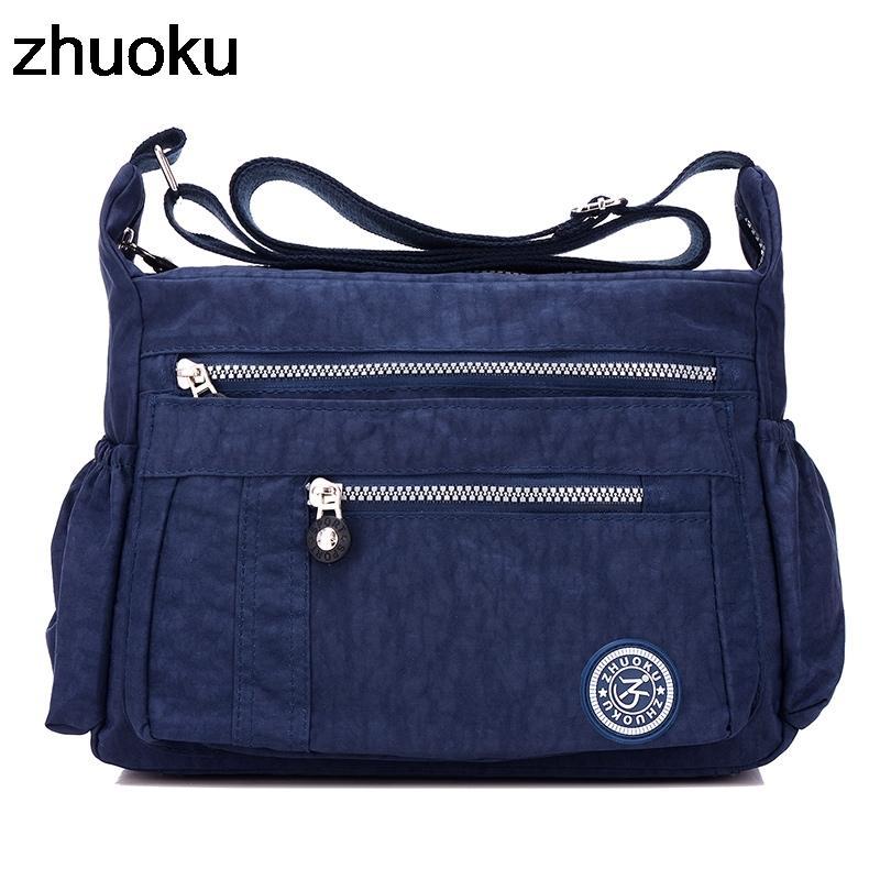 Luxury Women Messenger Bag Waterproof Nylon Shoulder Bags Casual Top-handle Ladies Handbag Travel Tote Women's Crossbody Bag LJ200827