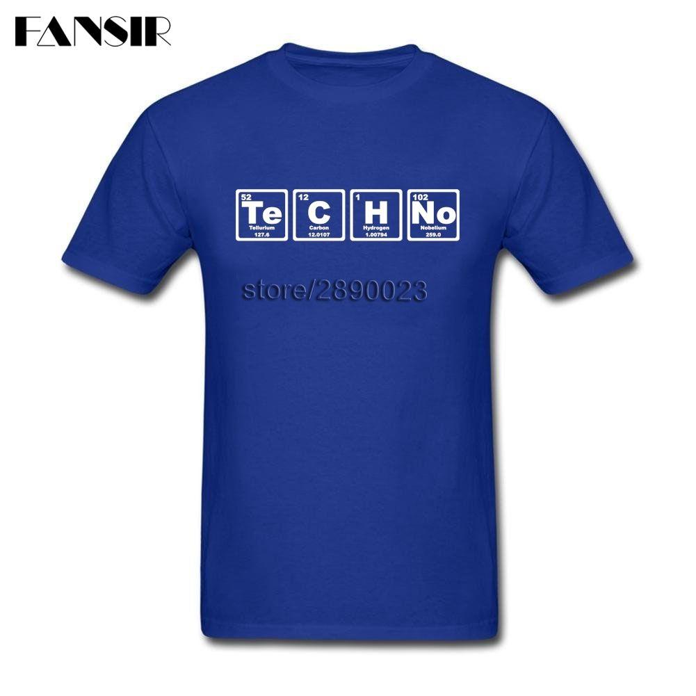 Te-C-H-No Techno Pop Musique Hommes T-shirts Fou T-shirts manches courtes hommes coton ras du cou Taille Plus d'été T-shirts pour la famille