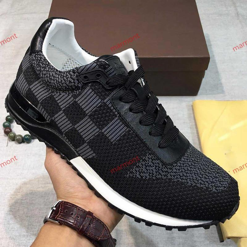 2019 novos homens de alta qualidade s confortáveis sapatos casuais tênis planas moda malha de couro com sapatos respirável embalagem xshfbcl originais