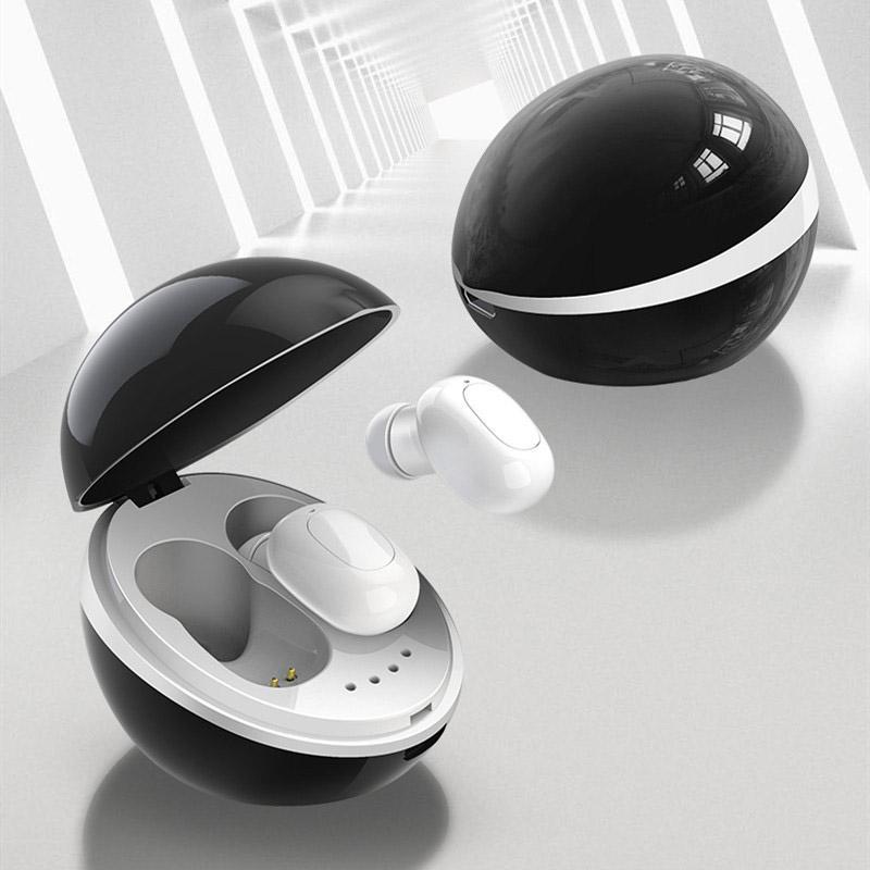 TWS bluetooth earphones wireless earbuds In-ear HiFi stereo wireless mini portable Space Cap style 400 mAh charging bin