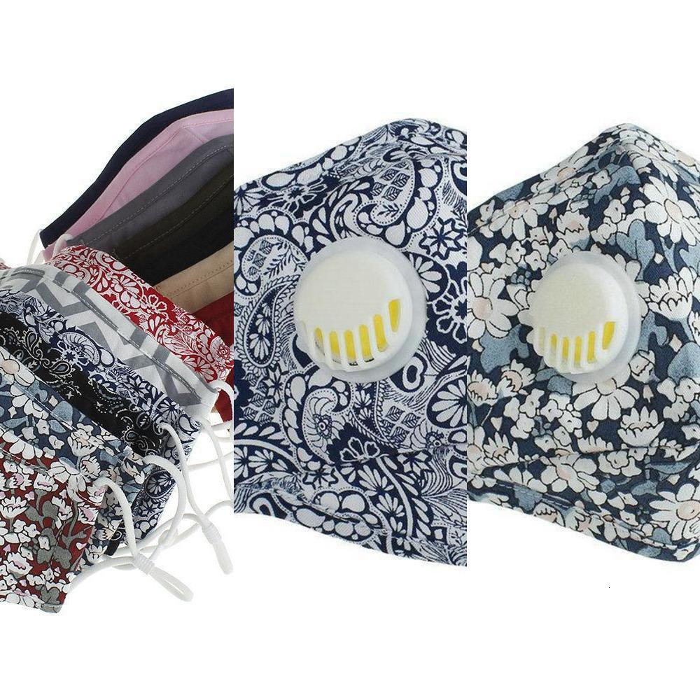 Washable Pm2.5 Anti-dust Reusable Face New 2020 Mask Masks Valve Protective Cotton Face Masks Cloth Washable Mans Womans 15