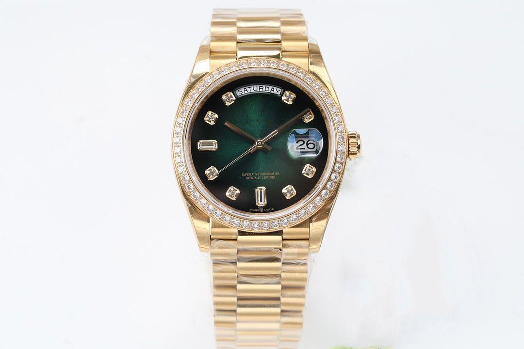 EW производит высококачественные 36mmX12mm мужские часы 3255 автоматические движения цепи близко нижней мужские часы наручные часы
