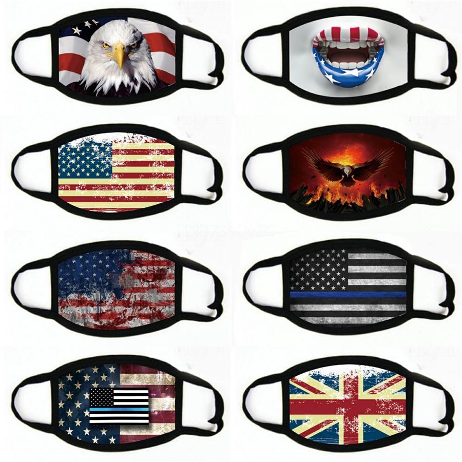 Maschere viso per WashablePrint maschere per adulti e US Election antipolvere maschera American Flag maschera # 207