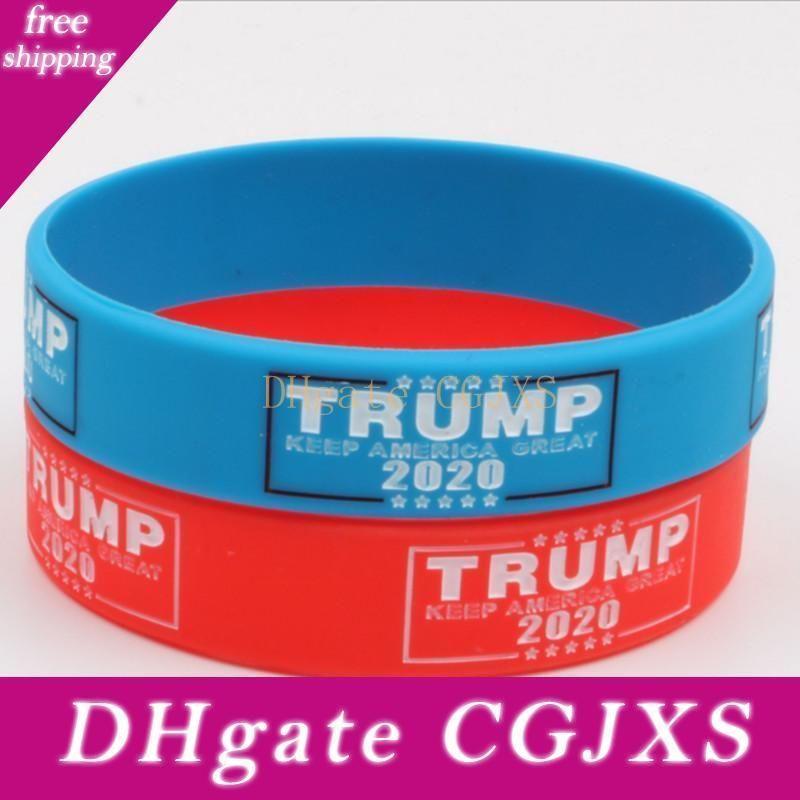 Trump 2020 Silikon-Armband Make America Great Again Brief Armband Donald Trump Fans Armband Mode Armbänder Bh2122 Tqq