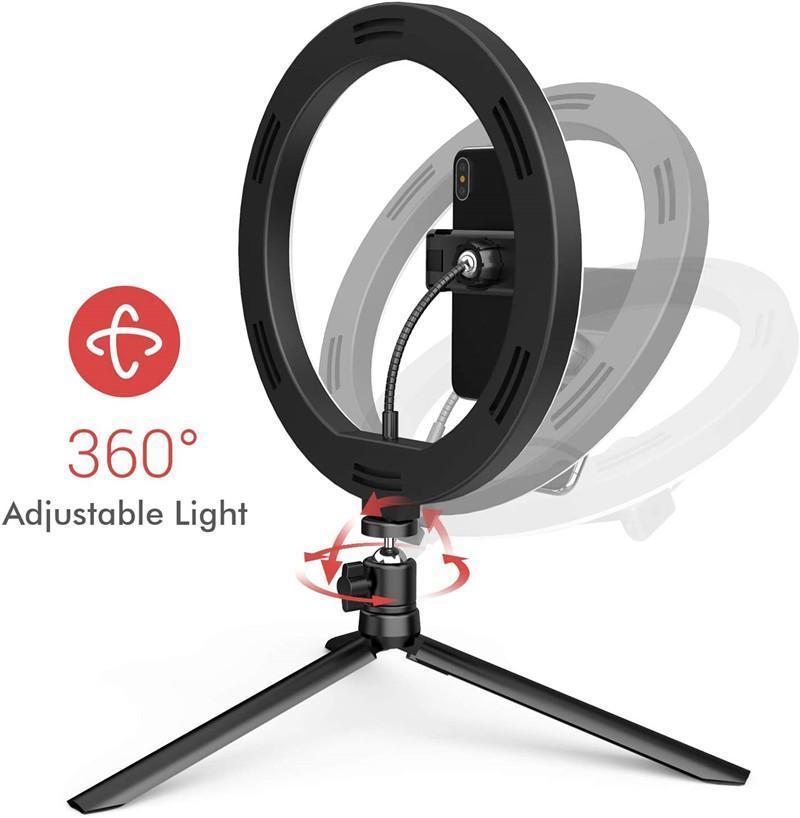 Luminaria Işık Youtube Işık Halkası 10 Yayın Renk Led Dim İçin Kamera Canlı İnç Dolgu Selfie'nin Video Üç Telefon garden2007 mBuwo