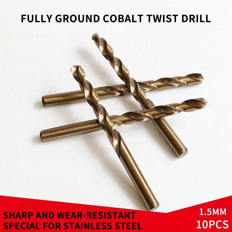 10pcs 1.5-8.5mm Büküm matkap Ağaç HSS Kaplamalı Titanyum Kaplı Spiral Matkap Ucu Seti İçin Ahşap Bakır Metal Aracı Yeni lbeF # bit