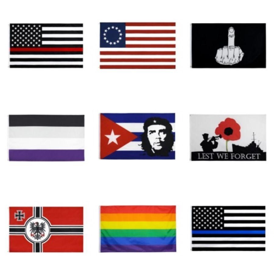50Pcs Direct Factory Wholesale 90 * 150см 3х5 FTS Конституция США 2Nd Вторая поправка Флаг для Поправка II # 858
