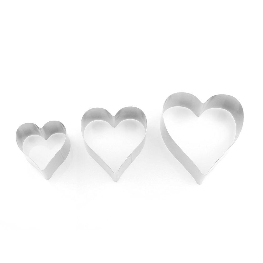 3 шт / комплект выпекание Cookie Cutter Мусс DIY формы сердца выпечки торт прессформы