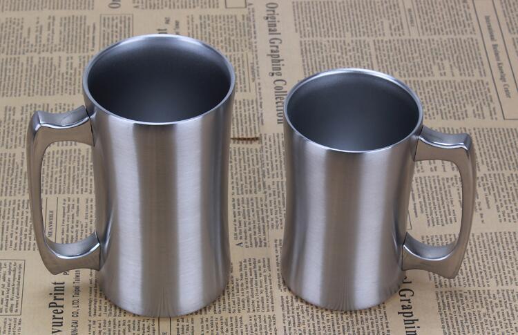 DHL 20 Ounce Stainless Steel boccale di birra a doppia parete scheggia vuoto isolato tazza bevanda caffè cucina, sala bar