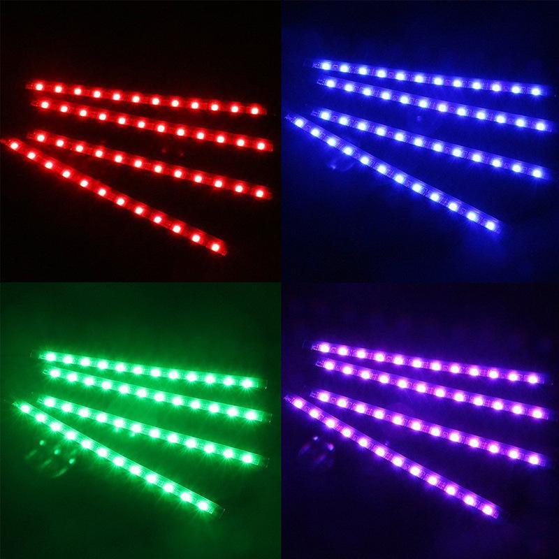 Car LED Piso Luz Ambiente Lâmpada Com USB remoto sem fios Música Controle Interior Múltiplos Modos de carro Iluminação decorativa