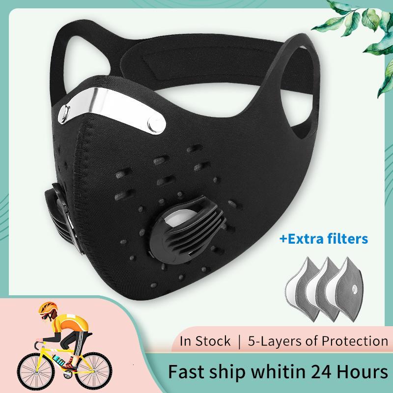 X-TIGER Pro Sport Mask Aktivkohlefilter Anti-Verschmutzung staubdicht Maske Waschbar Facemask Antivira Masken Radfahren Gesicht