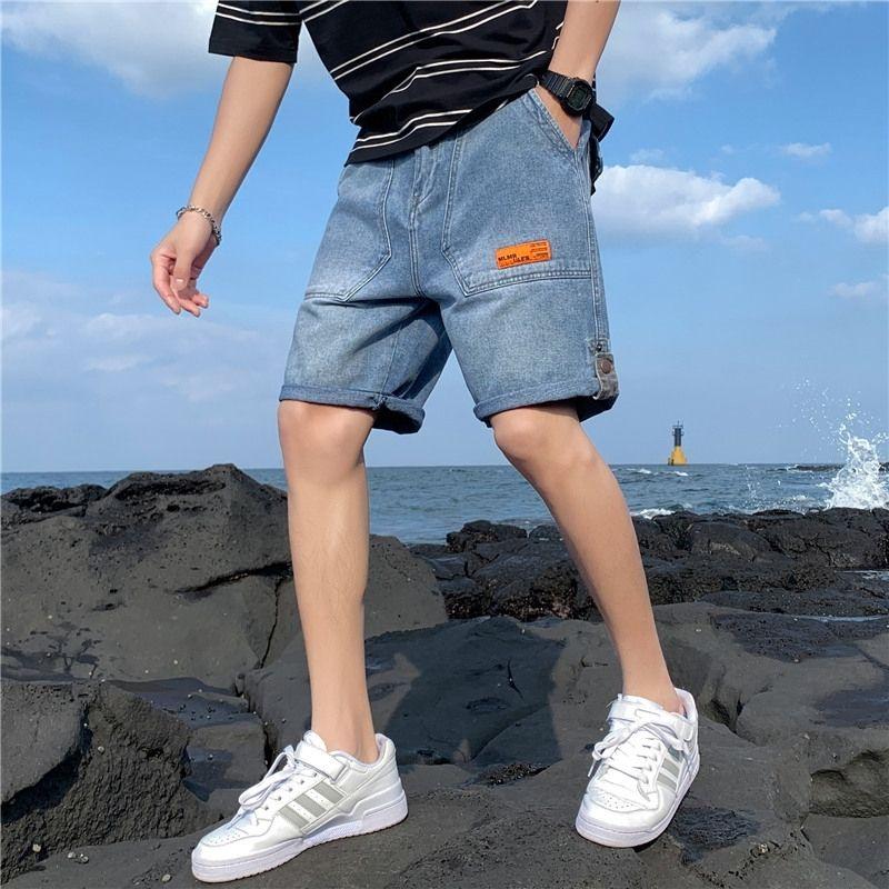 G3xfi Джинсовые шорты пальто носить свободные шорты летние модные бриджи мужские 5-точечные Средний брюки случайные внешние и 5-точечные брюки модный мужской бренд