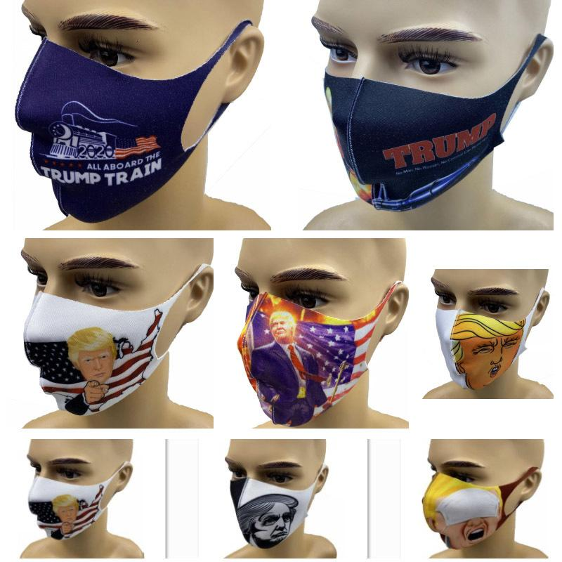 Maschere per il viso del nuovo cotone anti-polvere di protezione per adulti elezioni americane lavabili riutilizzabili Trump Bocca mas CW8P