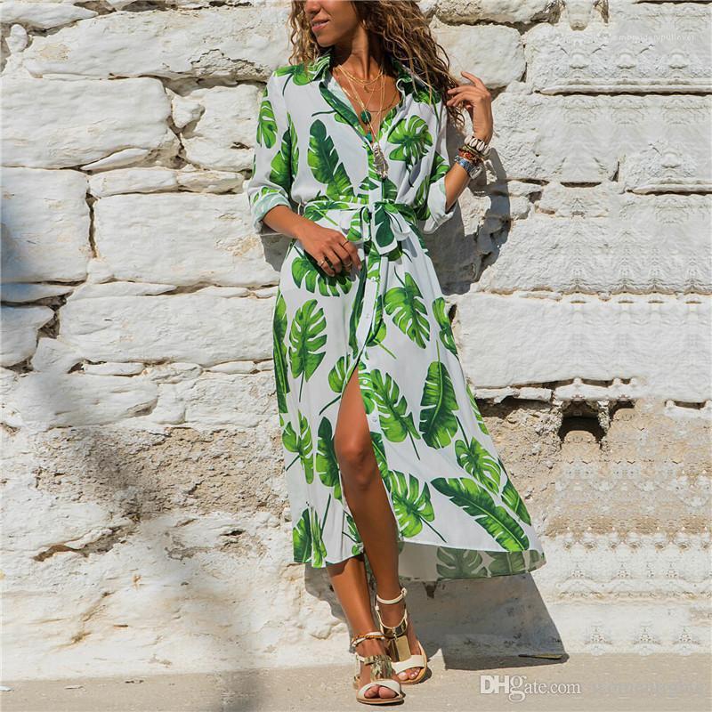 Düğme Modelleri Kadın Sonbahar Yüksek Bel Elbise Sıcak Tasarımcı Kadınlar Uzun Elbise Derin V Yaka Partisi