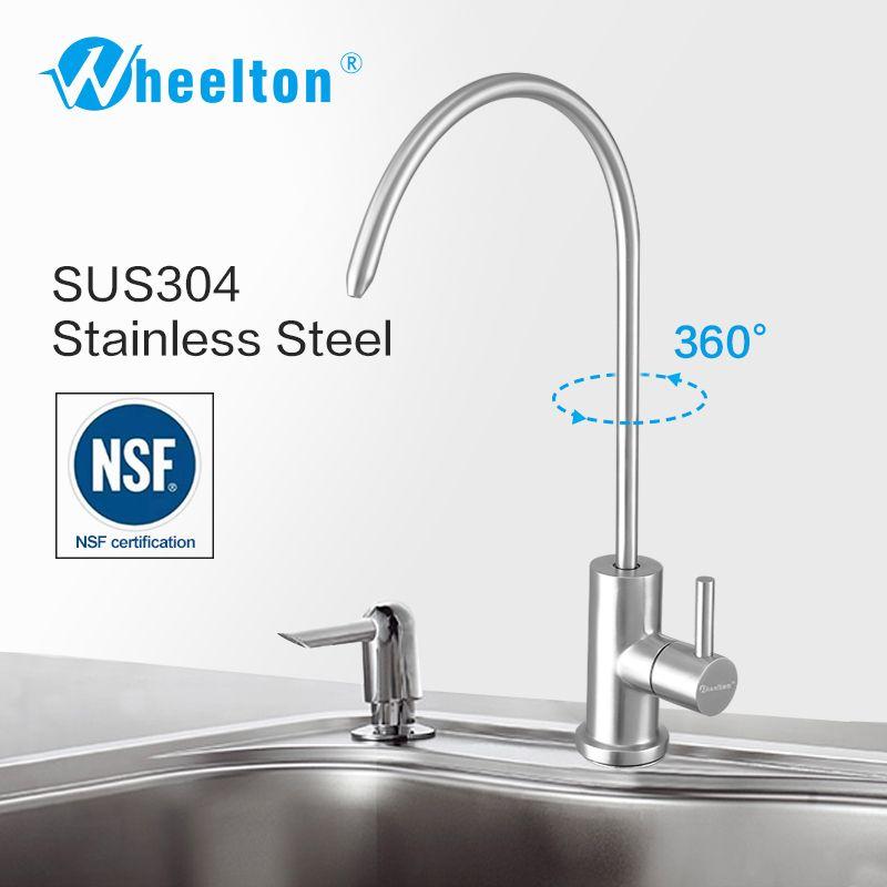Wheelton RO rubinetto in acciaio inox AISI 304 NSF cucina a bere acqua di rubinetto per filtro senza piombo Purify Sistema per esempio Osmosi inversa T200810