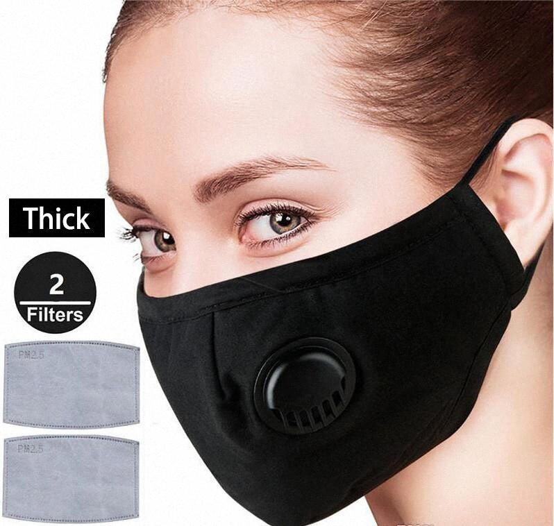 maschera di cotone del DHL faccia lavabile maschera viso unisex anti respirare la polvere Bocca Maschera anti-fog PM2.5 Viso copertura di protezione esterna 9uft #