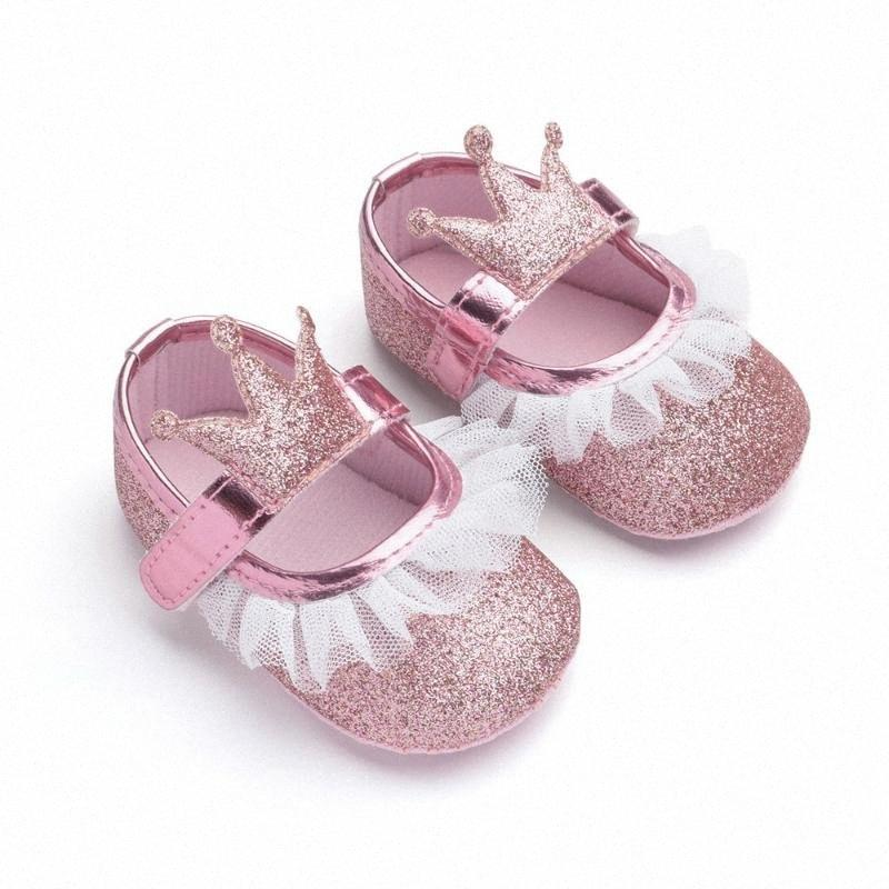 Mode Cartoon Pailletten Babyschuhe für Mädchen Anti-Rutsch Neugeborene Schuhe Infant Bequeme Baumwollbeiläufiges erste Wanderer-Kleinkind-ÉÅ, um #