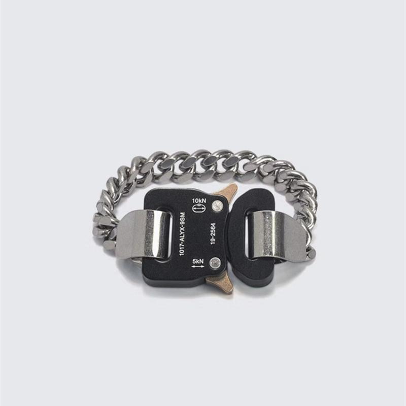 Neuer Mann-Frauen-Armbänder Alyx Kette Fashion Alyx-Verbindungs-Armband-Qualitäts-Metall Button1017-ALYX-9SM