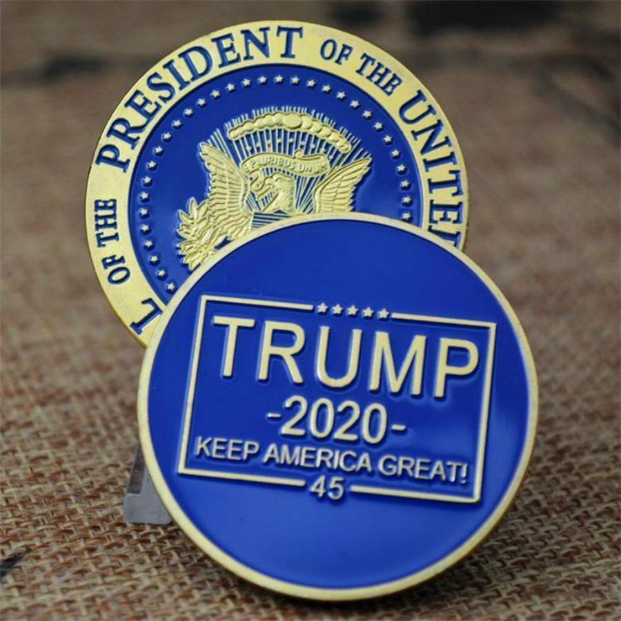 ترامب الكلام التذكارية عملة الأمريكية الرئيس ترامب 2020 Hotselling جمع العملات المعدنية الحرف ورقة رابحة الرمزية حافظ على عملات أمريكا العظمى FY6067