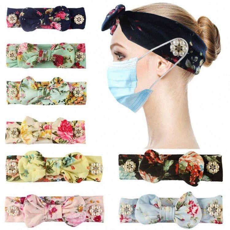 Elastic Anti Strangulation Knopf-Haar-Band Verschiedene Blütenfarbe Stirnband Im Freien Sport Sweat Maske Stirnband-Partei-Geschenk DHA197 PlfR #