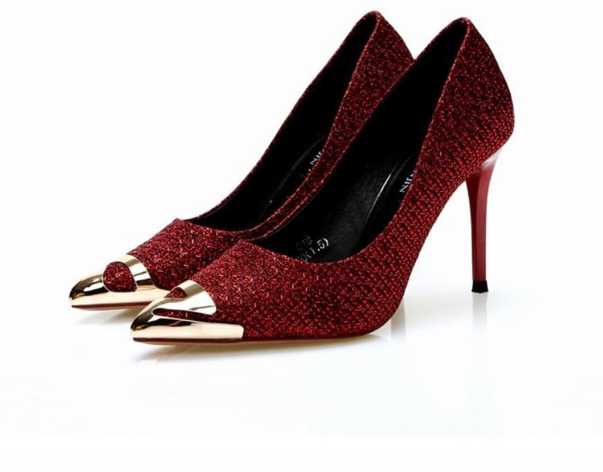 2020 primavera e l'autunno con le scarpe nuovo modo di stile tacco alto sottile tacco estremità appuntita delle donne @ ZX63
