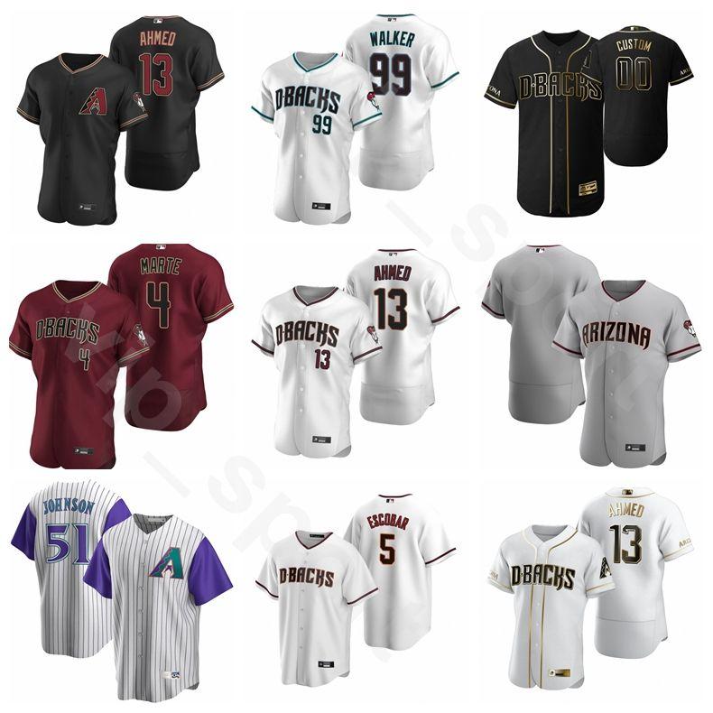 2020 Baseball 13 Nick Ahmed Jersey 53 Christian Walker 29 Merrill Kelly 87 Pavin Smith 85 Andy Jovem Ketel Marte sob encomenda do número