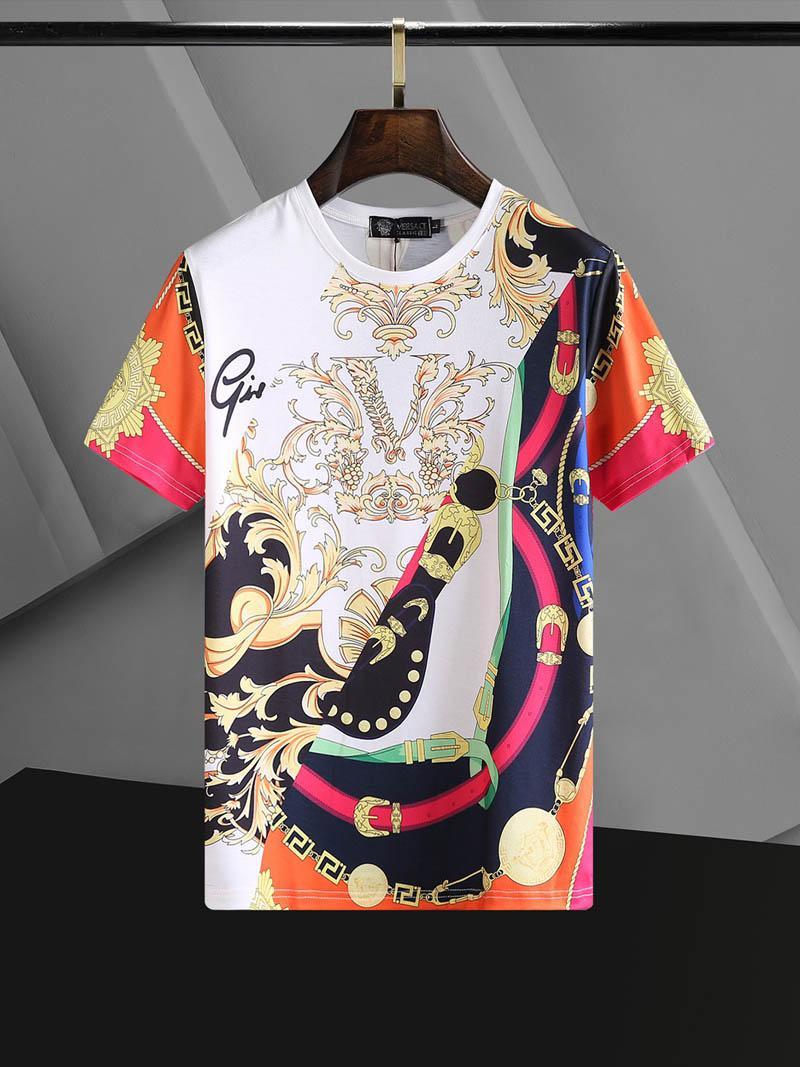 Mode T-shirts pour hommes Hauts Lettre de broderie T-shirt pour hommes Vêtements pour femmes T-shirt manches courtes T-shirts hommes