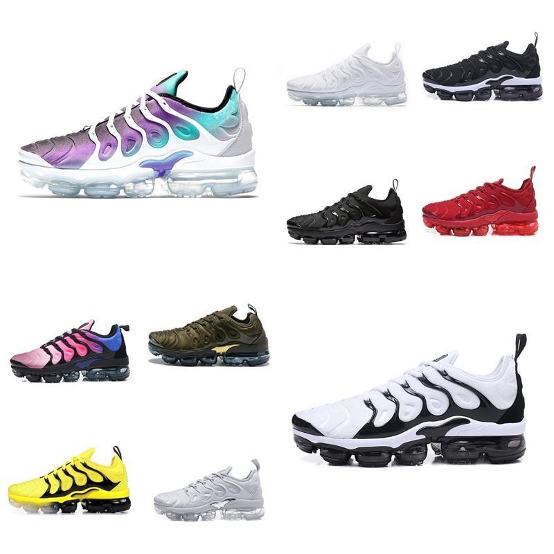 2020 2018 New TN PLUS Мужская обувь для дешевых TN PLUS белый черный синий повседневная обувь TNS реквина Chaussures размер 36-45