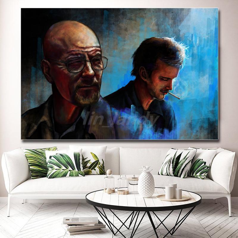 Breaking Bad Nunca diga que adiós fumadores pinturas de lona del hombre imagen se imprime modular para la sala de estar cartel en la pared Decoración para el Hogar