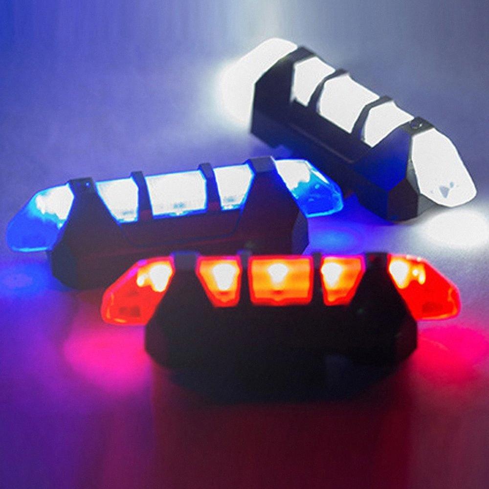 Велосипед свет ЦИКЛ ZONE НОВЫЙ задействуя 5 LED USB аккумуляторная велосипед Хвост Предупреждение свет сзади Безопасность Новый безопасный и стабильный BS4l #