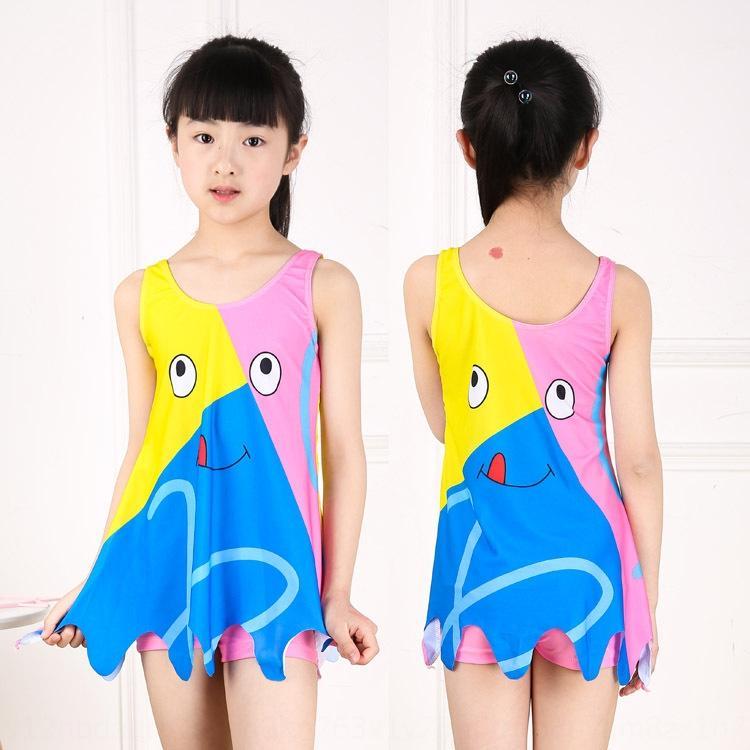 Xgjd9 filles style coréen princesse divisé boxeur étudiant maillot de bain femme joli dessin animé coloré maillot de bain chaud printemps