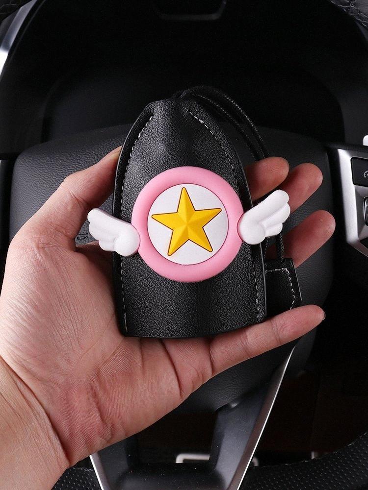 Autoschlüssel Fall weibliche Cartoon nett Autoschlüssel Fall Korea handgemachte Schutz-Set kreative Dekoration 3 cps #